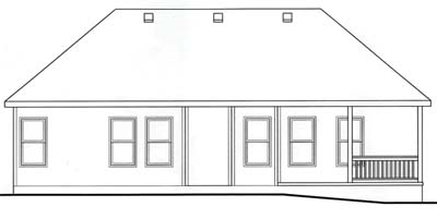 Rear Elevation Plan: 10-1563