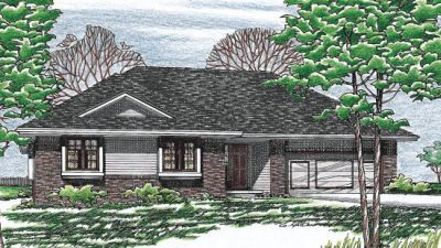 Contemporary Style Floor Plans Plan: 10-157