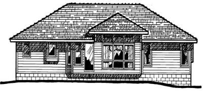 Rear Elevation Plan: 10-157