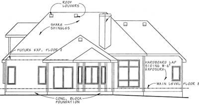 Rear Elevation Plan: 10-1574