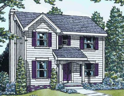 Colonial Style House Plans Plan: 10-1576