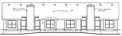 Rear Elevation Plan: 10-1577
