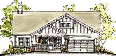 Craftsman Style House Plans Plan: 10-1578