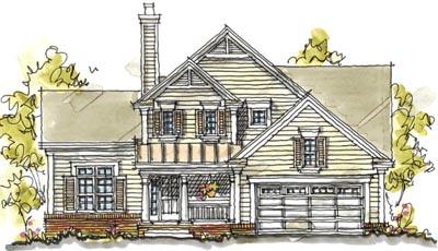 Country Style Home Design Plan: 10-1579