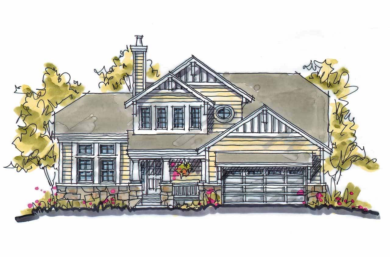Craftsman Style House Plans Plan: 10-1580