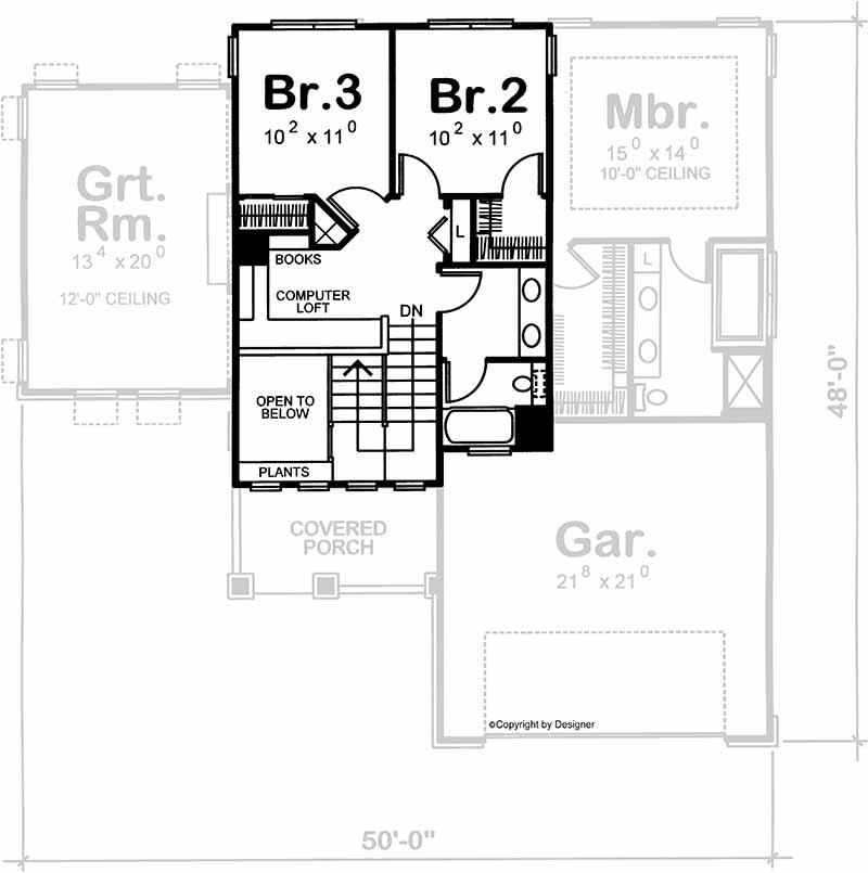 Upper/Second Floor Plan: 10-1580