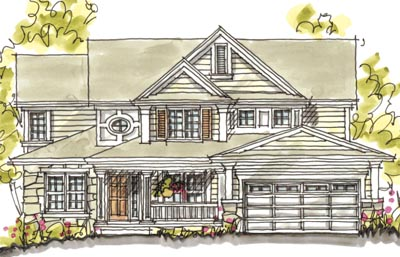 Traditional Style Home Design Plan: 10-1581