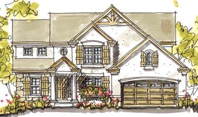 European Style Home Design Plan: 10-1582