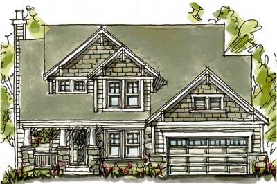 Craftsman Style Floor Plans Plan: 10-1583