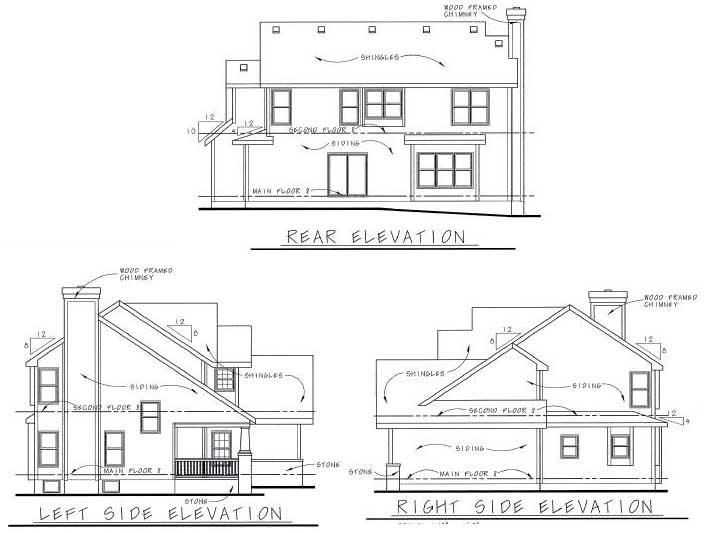 Rear Elevation Plan: 10-1583
