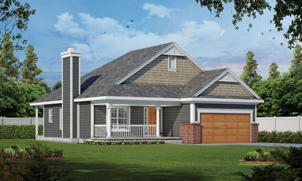Country Style Home Design Plan: 10-1584