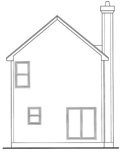 Rear Elevation Plan: 10-1586