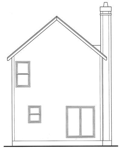Rear Elevation Plan: 10-1588