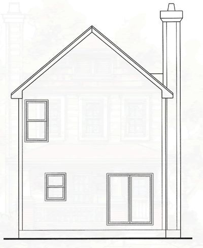 Rear Elevation Plan: 10-1589