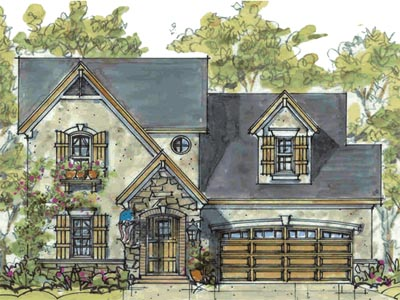 French-country Style House Plans Plan: 10-1591