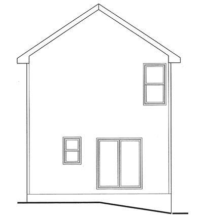 Rear Elevation Plan: 10-1594