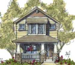 Craftsman Style House Plans Plan: 10-1594
