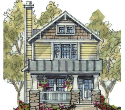 Craftsman Style House Plans Plan: 10-1597
