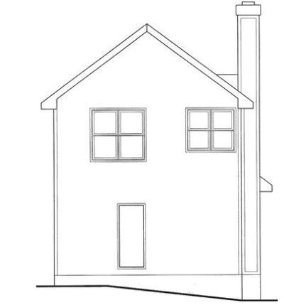 Rear Elevation Plan: 10-1597