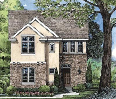 French-country Style Floor Plans Plan: 10-1599