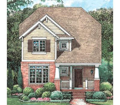 Craftsman Style Home Design 10-1600