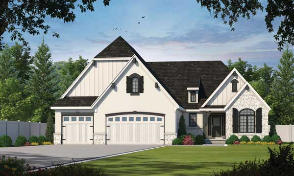 English-country Style Floor Plans Plan: 10-1614