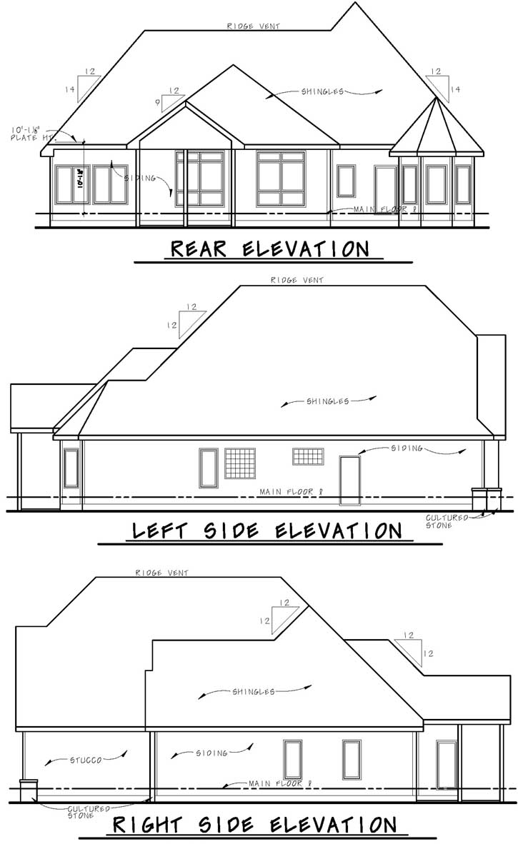 Rear Elevation Plan: 10-1614