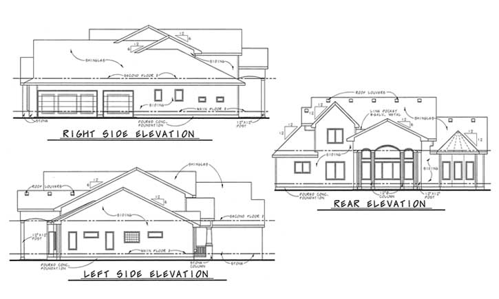 Rear Elevations Plan:10-1618