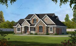 Traditional Style Home Design 10-1618