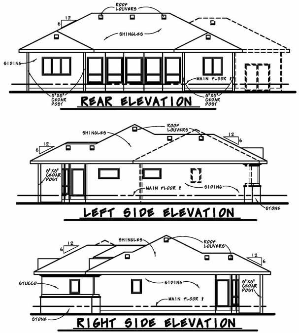 Rear Elevation Plan: 10-1627