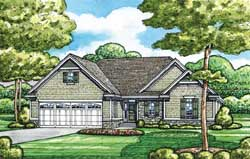Traditional Style Home Design Plan: 10-1629