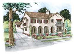 Mediterranean Style House Plans Plan: 10-1644
