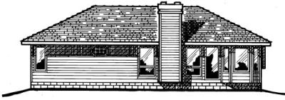 Rear Elevation Plan: 10-165