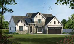 Modern-Farmhouse Style Home Design Plan: 10-1651