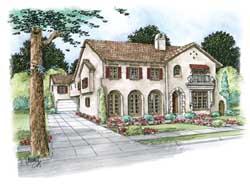Mediterranean Style House Plans Plan: 10-1668