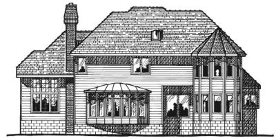 Rear Elevation Plan: 10-169