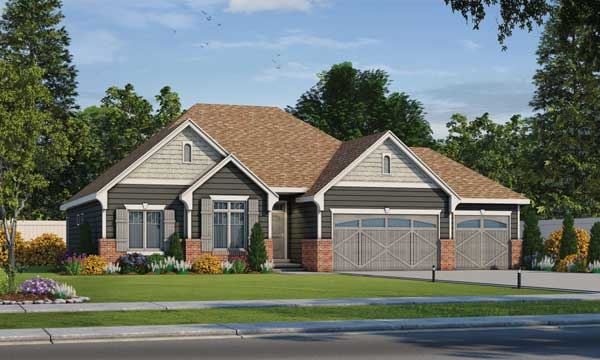 Craftsman Style House Plans Plan: 10-1693