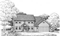 Colonial Style Floor Plans Plan: 10-1708