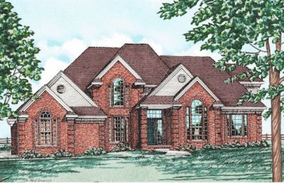 European Style Home Design Plan: 10-174