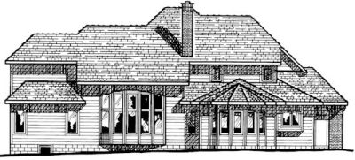 Rear Elevation Plan: 10-174