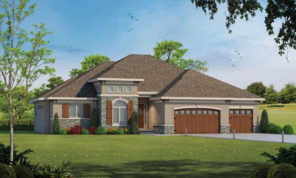 Tuscan Style House Plans 10-1745
