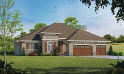 Tuscan Style House Plans Plan: 10-1745