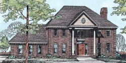 Georgian Style House Plans Plan: 10-175