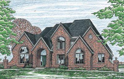 European Style Home Design Plan: 10-176