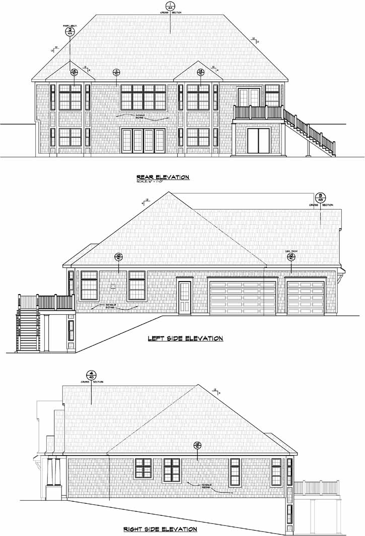 Rear Elevation Plan: 10-1771
