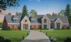 French-Country Style House Plans Plan: 10-1774