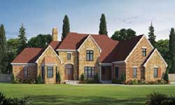 French-Country Style House Plans Plan: 10-1775