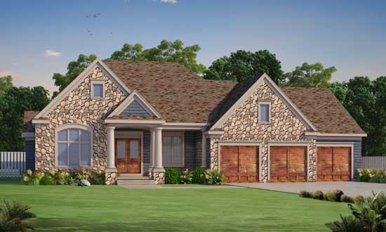 Traditional Style House Plans Plan: 10-1783