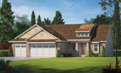 Craftsman Style Home Design Plan: 10-1789