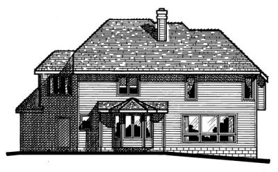 Rear Elevation Plan: 10-179